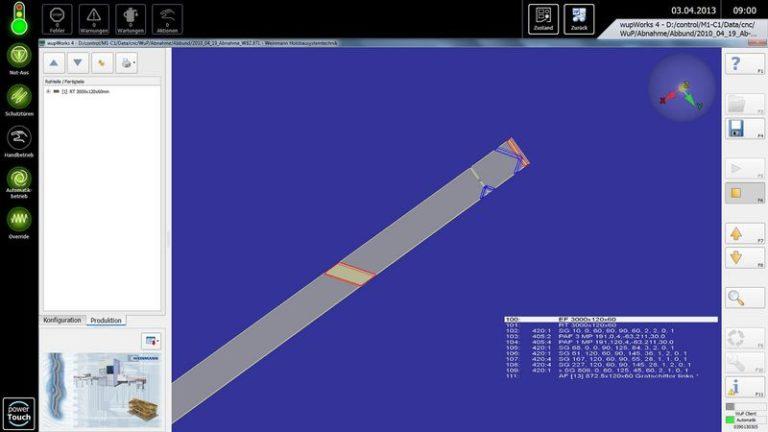 Tesařská nářezová CNC pila HOMAG Weinmann BEAMTEQ B-520 WupWorks